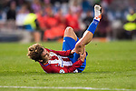 Antoine Griezmann of Atletico de Madrid lies injured on the pitch during their 2016-17 UEFA Champions League match between Atletico Madrid and FC Rostov at the Vicente Calderon Stadium on 01 November 2016 in Madrid, Spain. Photo by Diego Gonzalez Souto / Power Sport Images