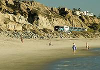 Train Going Through San Clemente by the Beach