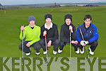YOUNG GOLFERS: Enjoying a game of golf at the Barrow course on Sunday l-r: Adam Leahy, Raymond Kelly, John Moran and Stephen Doyle..