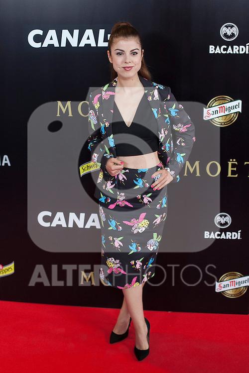 Alba Messa poses during Pacha `El arquitecto de la noche´ film premiere in Madrid, Spain. May 25, 2015. (ALTERPHOTOS/Victor Blanco)