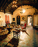 USA, California, interior of Scotty's Castle, Death Valley National Park