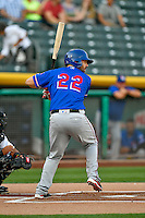 Brett Nicholas (22) of the Round Rock Express at bat against the Salt Lake Bees in Pacific Coast League action at Smith's Ballpark on August 13, 2016 in Salt Lake City, Utah. Round Rock defeated Salt Lake 7-3.  (Stephen Smith/Four Seam Images)