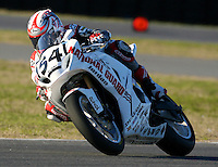 Roger Hayden (54) is shown in action during the AMA SuperBike motorcycle race at Daytona International Speedway, Daytona Beach, FL, March 2011.(Photo by Brian Cleary/www.bcpix.com)