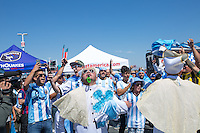 Santa Clara, California - June 6, 2016: Argentina plays Chile in their first match of Group D at the 2016 edition of Copa America at Levi's stadium.