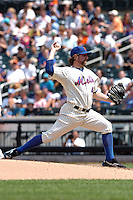 New York Mets pitcher R.A. Dickey #43 during a game against the Milwakee Brewers at Citi Field on August 21, 2011 in Queens, NY.  Brewers defeated Mets 6-2.  Tomasso DeRosa/Four Seam Images