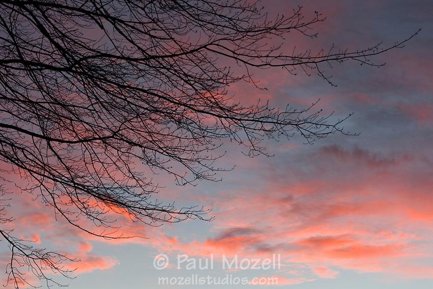Sunset above the Great Meadows National Wildlife Sanctuary, Sudbury, MA