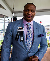 BALTIMORE, MD - MAY 20: Former NFL player Eddie George poses for a photo in The Under Armour Tent on Preakness Stakes Day at Pimlico Race Course on May 20, 2017 in Baltimore, Maryland.(Photo by Jesse Caris/Eclipse Sportswire/Getty Images)