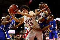 NJ Public Finals, Group 3 State Championship:  Ewing Blue Devils vs Bergenfield Bears boys basketball at the Rutgers Athletic Center, Piscataway, NJ, Sunday, March 15, 2015.  Bergenfield defeated Ewing by the score of 80 - 72 in OT.