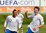 Soccer, UEFA U-17.France Vs. England.Nathan Redmond and Nicholas Powell celebrate scoring.Indjija, 03.05.2011..foto: Srdjan Stevanovic