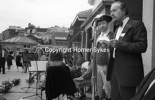 Opening of the new Covent Garden Piaaza  June 1980. Horace Cutler leader of the GLC Greater London Council. ..