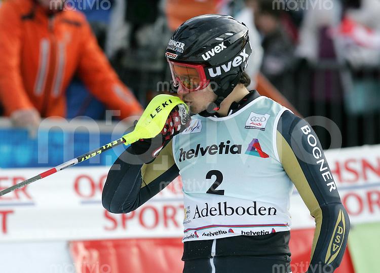 Ski Alpin;  Saison 2006/2007   06.01.2007 42. Weltcup Slalom  Herren JUBEL; Felix Neureuther (GER) belegt Platz 3