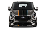Car photography straight front view of a 2018 Ford Tourneo Custom Sport 5 Door Passenger Van