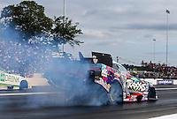 Jun 5, 2015; Englishtown, NJ, USA; NHRA funny car driver Courtney Force during qualifying for the Summernationals at Old Bridge Township Raceway Park. Mandatory Credit: Mark J. Rebilas-