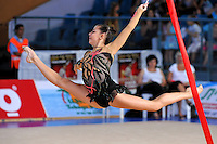 Tetyana Zahorodnya of Ukraine performs with ribbon at 2010 Holon Grand Prix at Holon, Israel on September 3, 2010.  (Photo by Tom Theobald).