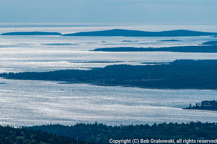 Islands off the coast of Maine near Mt Desert Island