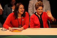 SÃO PAULO, SP - 29.05.2015 - DILMA-SP - A presidente Dilma Rousseff (Partido dos Trabalhadores) participa da abertura da 10ª Conferência Nacional do PCdoB, no bairro da Vila Mariana, zona sul de São Paulo, nesta sexta-feira (29). (Foto: Douglas Pingituro/Brazil Photo Press/Folhapress)