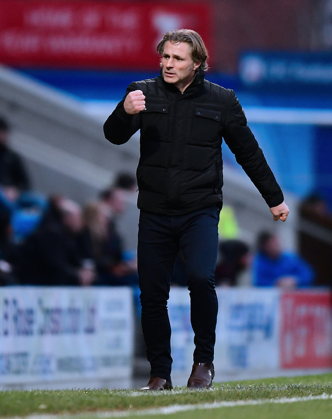 Wycombe Wanderers manager Gareth Ainsworth celebrates his sides first goal, scored by Paul Hayes<br /> <br /> Photographer Chris Vaughan/CameraSport<br /> <br /> The Emirates FA Cup Second Round - Chesterfield v Wycombe Wanderers - Saturday 3rd December 2016 - Proact Stadium - Chesterfield<br />  <br /> World Copyright &copy; 2016 CameraSport. All rights reserved. 43 Linden Ave. Countesthorpe. Leicester. England. LE8 5PG - Tel: +44 (0) 116 277 4147 - admin@camerasport.com - www.camerasport.com