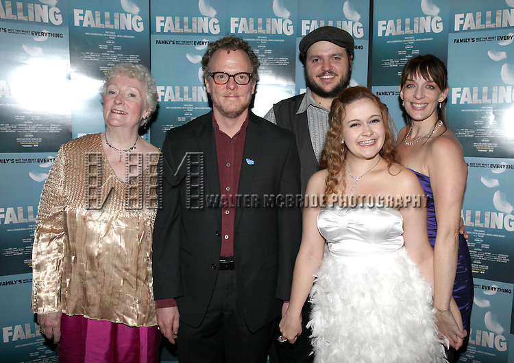 Celia Howard, Daniel Pearce, Daniel Everidge, Jacey Powers and Julia Murney  attending the Off-Broadway Opening Night Performance After Party for 'Falling' at Knickerbocker Bar & Grill on October 15, 2012 in New York City.