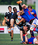 Uruguay vs Namibia during the Day 3 of the IRB Junior World Rugby Trophy 2014 at the Hong Kong Football Club on April 15, 2014 in Hong Kong, China. Photo by Xaume Olleros / Power Sport Images