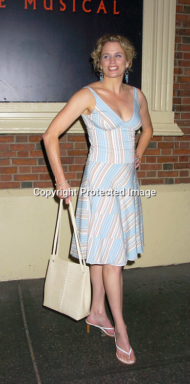 "Cady Huffman..at the Broadway opening  of "" Dracula, The Musical"" on ..August 19, 2004 at The Belasco Theatre in New York City...Photo by Robin Platzer, Twin Images"
