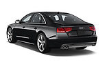 Car pictures of rear three quarter view of 2014 Audi S8 Base 4 Door Sedan angular rear