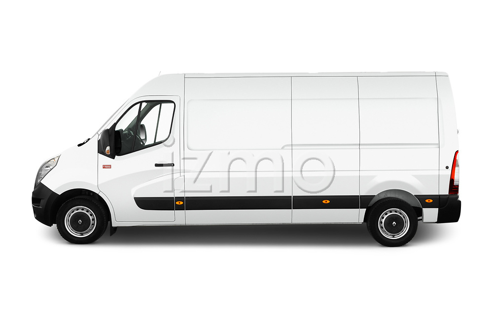 Car driver side profile view of a 2019 Renault Master L3h2 4 Door Cargo Van
