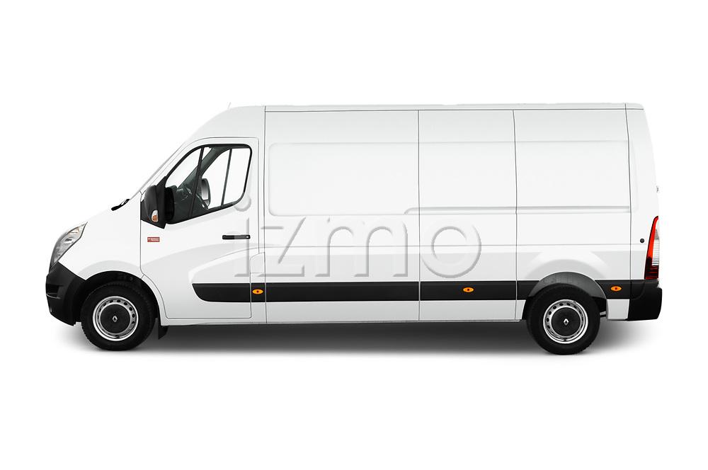 Car driver side profile view of a 2019 Renault Master L3h2 4 Door Cargo Van