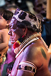 Jakalo Kuikuro watches a cultural presentation at the first ever International Indigenous Games, in the city of Palmas, Tocantins State, Brazil. The games will start officially with an opening ceremony on Friday the 23rd October. Photo © Sue Cunningham, pictures@scphotographic.com 21st October 2015