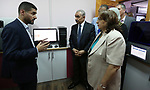 Palestinian Prime Minister Mohammad Ishtayeh, attends the opening of the National Center for Diagnosis of Cancer and Genetic Diseases, in the West Bank city of Ramallah, on September 22, 2019. Photo by Prime Minister Office