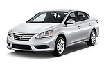2014 Nissan Sentra SV 4 Door Sedan Angular Front stock photos of front three quarter view