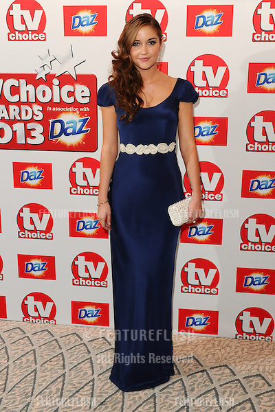 Jacqueline Jossa arriving at The TV Choice Awards 2013 held at the Dorchester, London. 09/09/2013 Picture by: Steve Vas / Featureflash