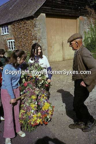 Abbotsbury garland Day Dorset. Annually May 13th. 1973.