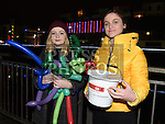 Laura Clifford and Eva Salerno at the fireworks display at Scotch Hall. Photo:Colin Bell/pressphotos.ie