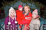 Excited to see Santa turning on Abbeyfeale's Christmas Lights on Friday night were L-R Kayla O'Mahony, Emily Shine (Rockchapel), Dettie Kelliher and Claire O'Mahony of Abbeyfeale.