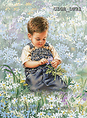 Dona Gelsinger, CHILDREN, paintings, little boy, flowers(USGEDW21,#K#) Kinder, niños, illustrations, pinturas ,everyday