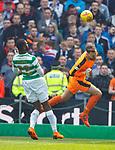 29.04.18 Celtic v Rangers: Jak Alnwick heads the ball away