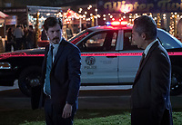 PEPPERMINT (2018)<br /> John Gallagher Jr. and John Ortiz <br /> *Filmstill - Editorial Use Only*<br /> CAP/FB<br /> Image supplied by Capital Pictures