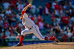 14 April 2018: Washington Nationals pitcher Sean Doolittle on the mound in the 9th inning against the Colorado Rockies at Nationals Park in Washington, DC. The Nationals rallied to defeat the Rockies 6-2 in the 3rd game of their 4-game series. Mandatory Credit: Ed Wolfstein Photo *** RAW (NEF) Image File Available ***