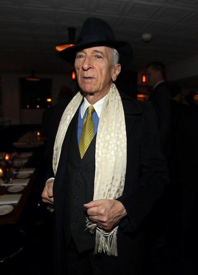 Gay Talese attends the Gilt Man diner at the Fedora in New York City on February 16,2011. ( Donald Traill/ Wall Street Journal) 10770 Gilt Man Diner