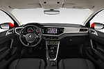 Stock photo of straight dashboard view of a 2019 Volkswagen Beetle S 5 Door Hatchback