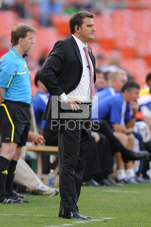 DC United Head Coach Curt Onalfo.  DC United defeated The Kansas City Wizards  2-0 at RFK Stadium, Wednesday  May 5, 2010.