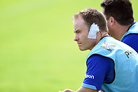 Bath Rugby physiotherapist Joey Hayes looks on during the pre-match warm-up. Pre-season friendly match, between Bristol Rugby and Bath Rugby on August 12, 2017 at the Cribbs Causeway Ground in Bristol, England. Photo by: Patrick Khachfe / Onside Images