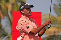 Jeev Milkha Singh (IND) tees off on the 14th tee during Saturday's  Round 3 of the 2012 Omega Dubai Desert Classic at Emirates Golf Club Majlis Course, Dubai, United Arab Emirates, 11th February 2012(Photo Eoin Clarke/www.golffile.ie)