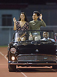 Lawndale, CA 10/07/16 - Members of the homecoming court arrive at the stadium in action during the CIF Bay League game between Santa Monica and Lawndale.