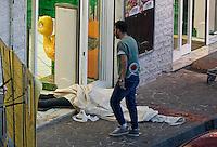 Rapinatore ucciso da un carabiniere durante una rapina in supermercato a Qualiano<br /> foto ciro de luca\agnfoto
