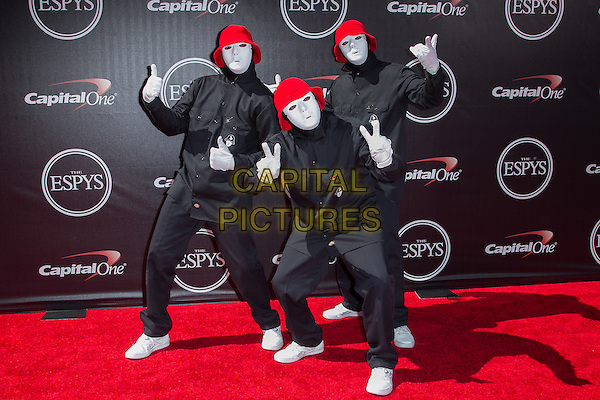 LOS ANGELES, CA - JULY 16: Jabbawockeez at the 2014 ESPYs at Nokia Theatre L.A. Live in Los Angeles, California on July 16th, 2014.   <br /> CAP/MPI/mpi99<br /> &copy;mpi99/MediaPunch/Capital Pictures