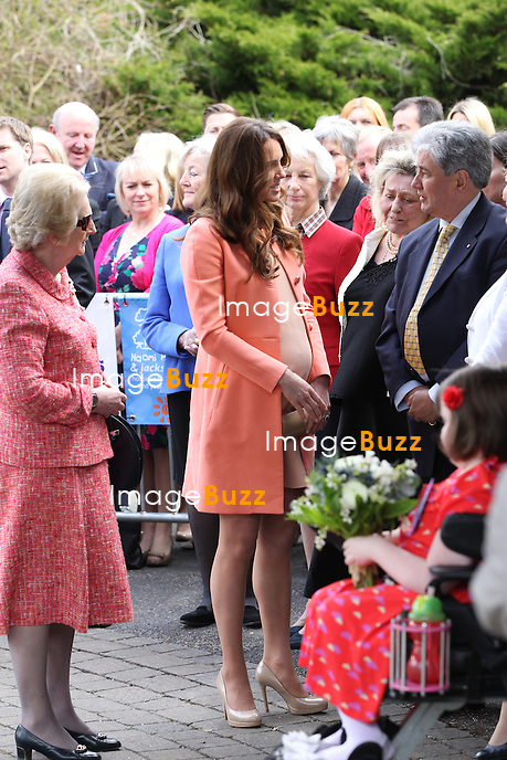 CATHERINE, DUCHESS OF CAMBRIDGE ON 2ND WEDDING  ANNIVERSARY .makes solo visit to Naomi House Children's Hospice, Winchester_April 29, 2013..Today is the 2nd anniversary of her marriage to Prince William..The Duchess is 7 months into her pregnancy.