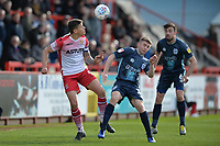 Alex Revell of Stevenage and Jordan Rossiter during Stevenage vs Bury, Sky Bet EFL League 2 Football at the Lamex Stadium on 9th March 2019