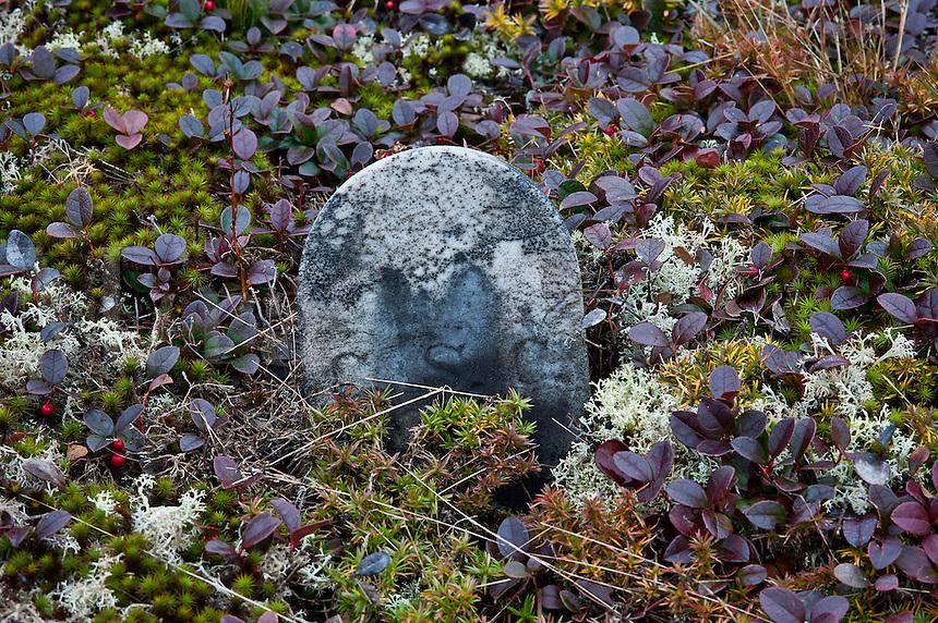 Ancient gravestone.