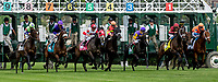 LOUISVILLE, KY - MAY 04: The horses break out of the gate during an undercard race on Kentucky Oaks Day at Churchill Downs on May 4, 2018 in Louisville, Kentucky. (Photo by Dan Heary/Eclipse Sportswire/Getty Images)